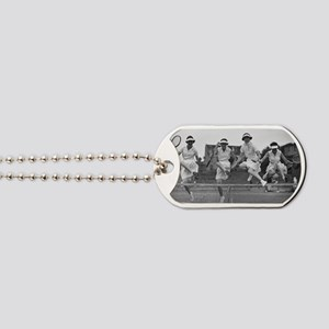 Women with Tennis Rackets Dog Tags