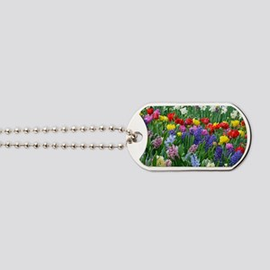 Spring garden flowers Dog Tags