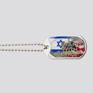 I stand with Israel Dog Tags