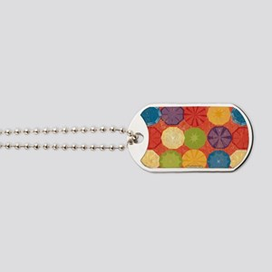 Colorful Beach Umbrellas Summer Orange Dog Tags