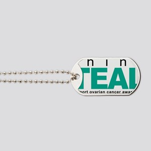Think-TEAL-Ovarian-Cancer Dog Tags