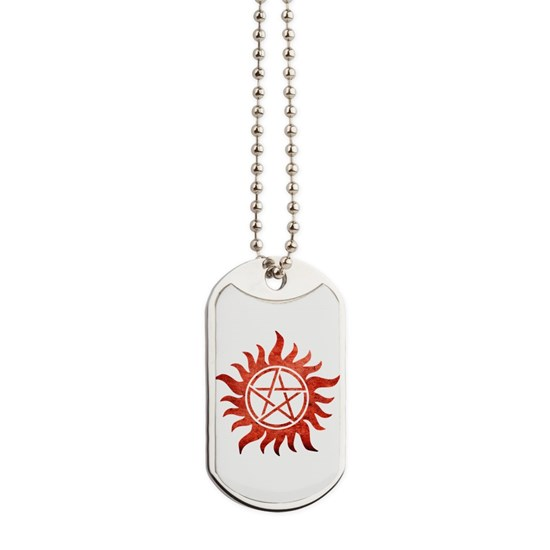 Supernatural Anti-Possession Tattoo Dog Tags