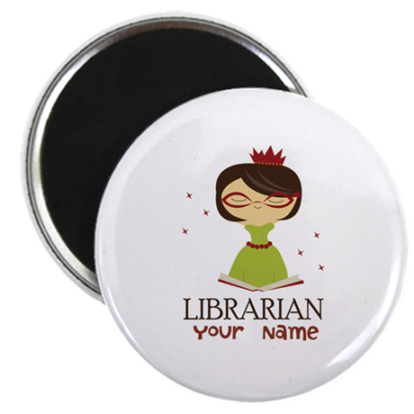 """Personalized Library Lady 2.25"""" Magnet (10 pack)"""