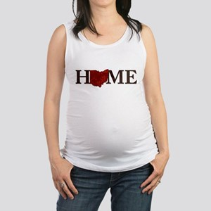 Ohio State Home Maternity Tank Top