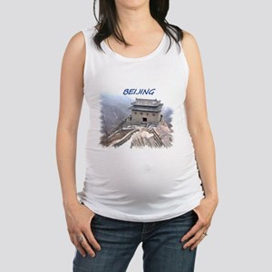 Beijing And The Great Wall Maternity Tank Top