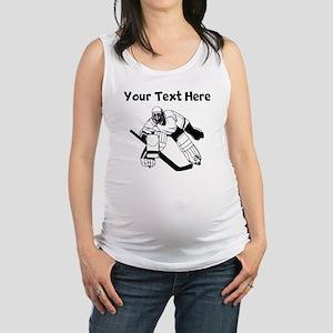 Hockey Goalie Maternity Tank Top