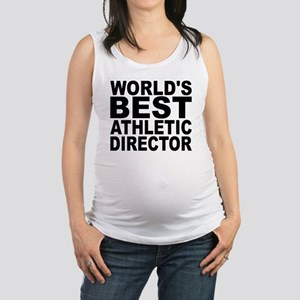 Worlds Best Athletic Director Maternity Tank Top