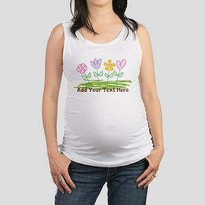 Custom Cute Flowers Maternity Tank Top