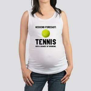Weekend Forecast Tennis Maternity Tank Top