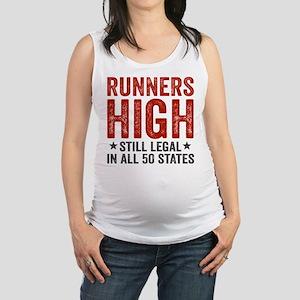Runner's High. Still Legal. Maternity Tank Top