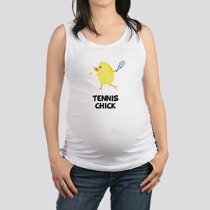 Tennis Chick Black Maternity Tank Top