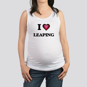 I Love Leaping Maternity Tank Top
