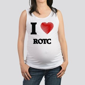 I Love Rotc Maternity Tank Top