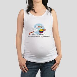 stork baby col 2 Maternity Tank Top