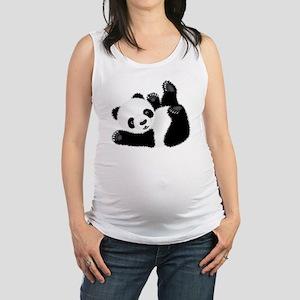 Baby Panda Maternity Tank Top