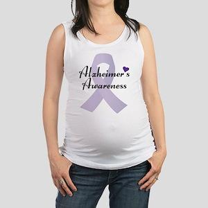 Alzheimers Awareness Ribbon Maternity Tank Top