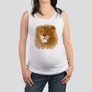Realistic Lion Maternity Tank Top
