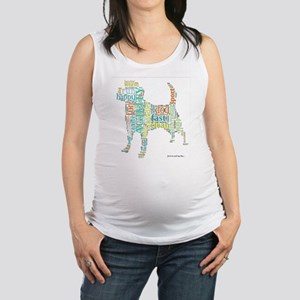 Random Agility Words Maternity Tank Top