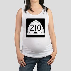 Powder Highway - Utah S.R. 210  Maternity Tank Top