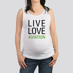 Live Love Aviation Maternity Tank Top