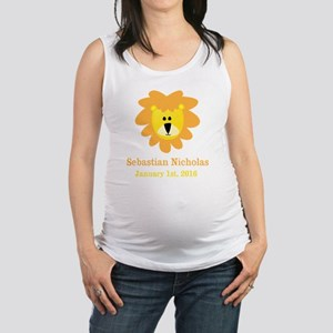 CUSTOM Lion w/Baby Name and Birth Date Maternity T