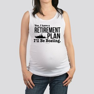 Boating Retirement Maternity Tank Top