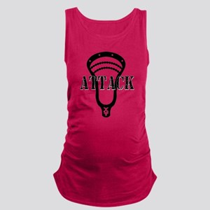 Lacrosse Attack Head Black Maternity Tank Top