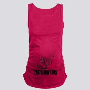 Funny Golf Quote Maternity Tank Top