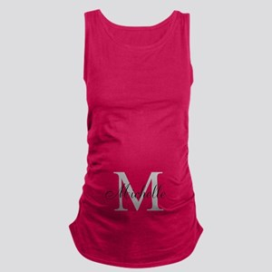 Personalized Monogram Name Maternity Tank Top