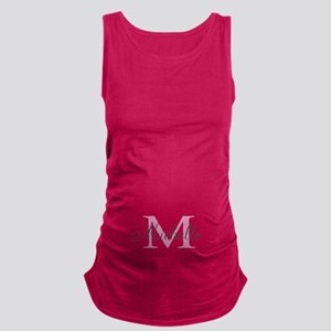 Custom Pink Baby Name Monogram Maternity Tank Top