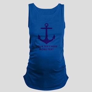 Nautical boat anchor Maternity Tank Top