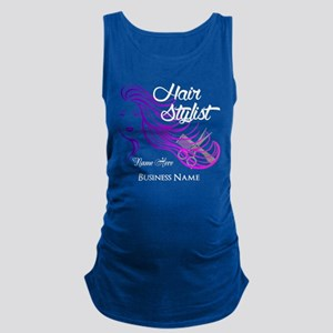 Hair Stylist Custom Maternity Tank Top