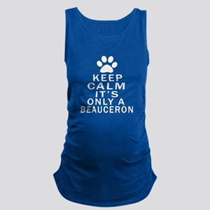 Beauceron Keep Calm Designs Maternity Tank Top