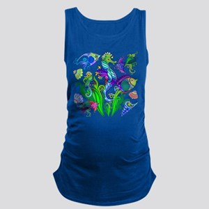 Exotic Marine Life Decorative Style Tank Top