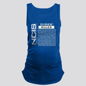 NCIS Gibbs Rules Maternity Tank Top
