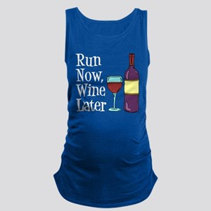 Run Now Wine Later Maternity Tank Top