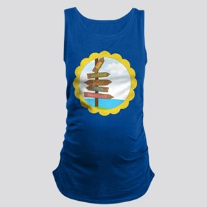 Beach Signs Maternity Tank Top