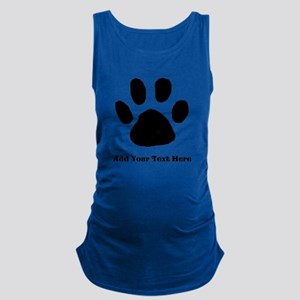 Paw Print Template Maternity Tank Top