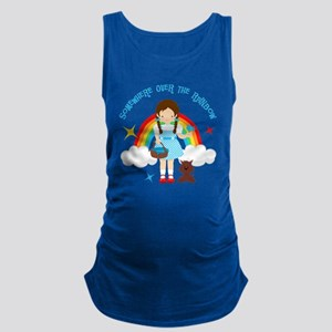 Dorothy Over The Rainbow Maternity Tank Top
