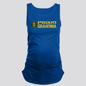 U.S. Army: Proud Grandma Maternity Tank Top
