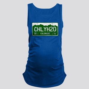 Chilly Water Colorado License P Maternity Tank Top