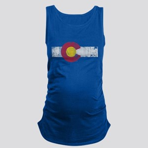 Vintage Colorado State Flag Fade Maternity Tank To