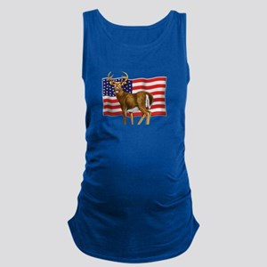 American White Tail Deer Buck Maternity Tank Top