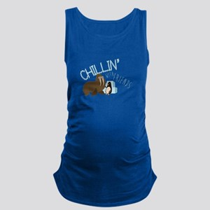 Chillin With Friends Maternity Tank Top