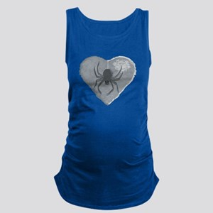 Stoneheart Halloween spider Maternity Tank Top