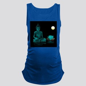 Teal Colour Buddha Maternity Tank Top