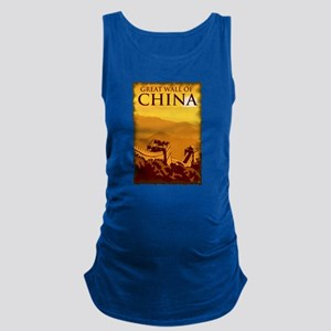 Vintage Great Wall Of China Maternity Tank Top
