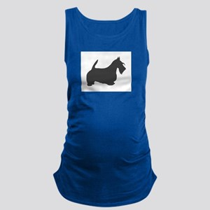 scottish terrier dark grey silhouette Tank Top