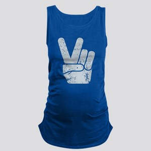 Vintage Peace Sign Maternity Tank Top