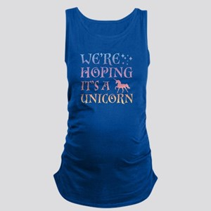 We're Hoping It's A Unicorn Maternity Tank Top